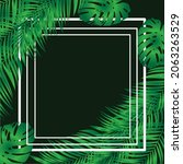 bright tropical background with ... | Shutterstock .eps vector #2063263529