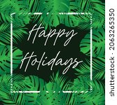 design happy holidays with... | Shutterstock .eps vector #2063265350