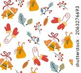christmas elements seamless... | Shutterstock .eps vector #2063276693