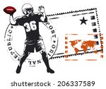 American Football Captain Stamp ...