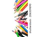 Colorful Vertical Pencil Crayo...