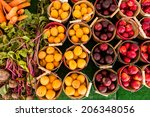 fresh organic produce on sale... | Shutterstock . vector #206348056