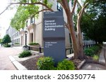 Small photo of General Services Administration Building Sign