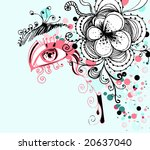 abstract background with woman... | Shutterstock .eps vector #20637040