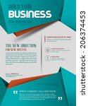 business template or poster in... | Shutterstock .eps vector #206374453