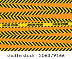 caution tapes zone | Shutterstock .eps vector #206379166
