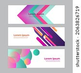 abstract banner design web... | Shutterstock .eps vector #2063826719
