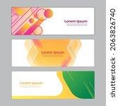 abstract banner design web... | Shutterstock .eps vector #2063826740