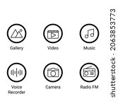 simple mobile phone icon set in ...
