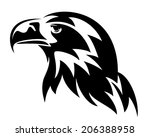 eagle head design   black and... | Shutterstock .eps vector #206388958