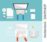 element of computer concept... | Shutterstock .eps vector #206391829