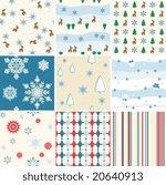 winter seamless patterns. | Shutterstock .eps vector #20640913