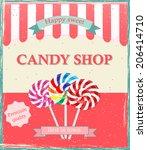 Vintage Candy Shop Poster...