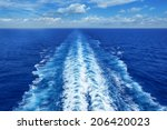 Ocean Wake From Cruise Ship  On ...