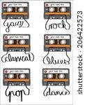 Retro Cassette Tape With Tape...
