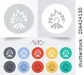 fire flame sign icon. heat... | Shutterstock .eps vector #206424130