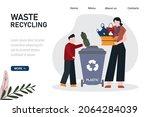 cartoon people sorting and... | Shutterstock .eps vector #2064284039