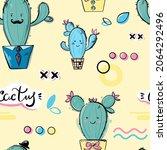 vector abstract illustration... | Shutterstock .eps vector #2064292496
