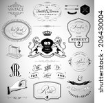 vector set  calligraphic design ... | Shutterstock .eps vector #206430004
