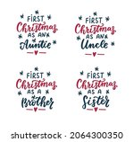 first christmas as auntie  as... | Shutterstock .eps vector #2064300350