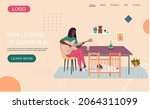 website with new lessons of... | Shutterstock .eps vector #2064311099
