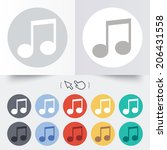 music note sign icon. musical... | Shutterstock .eps vector #206431558