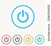 start icon   power button ... | Shutterstock .eps vector #206434303