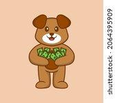 cute dog cartoon character... | Shutterstock .eps vector #2064395909