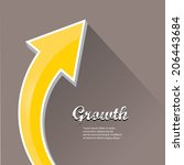 vector flat business graph and... | Shutterstock .eps vector #206443684