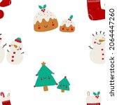 cute cartoon christmas tree ... | Shutterstock .eps vector #2064447260
