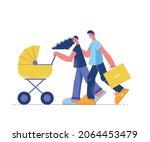 family shopping flat... | Shutterstock .eps vector #2064453479