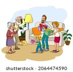 parents  day banner isolated on ... | Shutterstock .eps vector #2064474590
