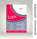 flyer  brochure or magazine... | Shutterstock .eps vector #206454826