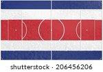 football field textured by...   Shutterstock . vector #206456206