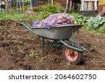 Garden Wheelbarrow With Sacks...