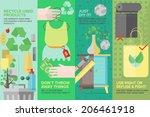 flat banner set of second hand... | Shutterstock .eps vector #206461918