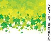 green leaves background    Shutterstock .eps vector #206462950