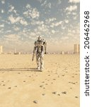 science fiction illustration of ...   Shutterstock . vector #206462968
