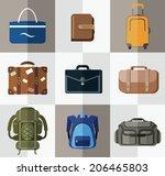 bags  suitcases  backpacks.... | Shutterstock .eps vector #206465803