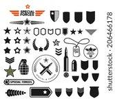 Military Style Set Symbolics...