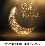 eid mubarak background. vector... | Shutterstock .eps vector #206466979