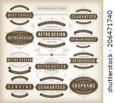 vintage vector design elements. ... | Shutterstock .eps vector #206471740