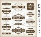 vintage vector design elements. ... | Shutterstock .eps vector #206471779