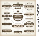 vintage vector design elements. ... | Shutterstock .eps vector #206471809