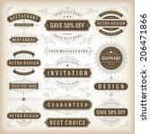 vintage vector design elements. ... | Shutterstock .eps vector #206471866