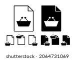 shop basket vector icon in file ...
