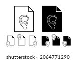 ear plastic surgery vector icon ...