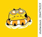 cute cat mascot character... | Shutterstock .eps vector #2064776519