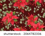 christmas seamless pattern with ...   Shutterstock .eps vector #2064782336