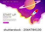 start up idea landing page... | Shutterstock .eps vector #2064784130